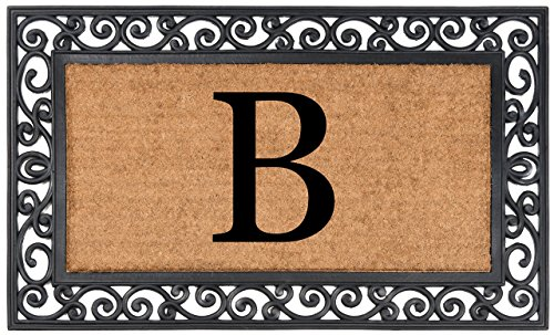 (Nance Industries YourOwn Monogrammed Rubber Welcome Mat, 24