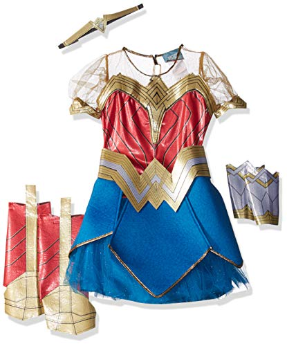Rubie's Costume Co Justice League Child's Wonder Woman Premium Costume -