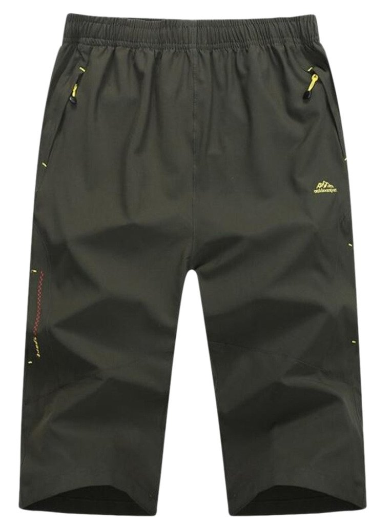 Men's Outdoor Quick Dry Hiking Mountaineering 3/4 Capri Pants