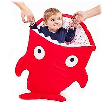 teemojiang tiburón ballena niña/niño bebé saco de dormir infantil Swaddle Manta, silla de paseo para asiento de coche de cama de guardería, ...