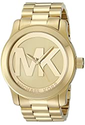 Michael Kors Women's MK5473 Runway Gold-Tone Stainless Steel Watch