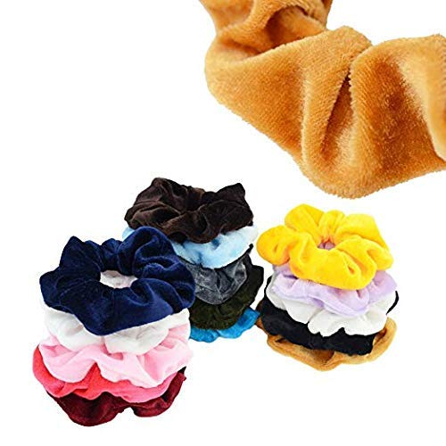 Chloven 45 Pcs Hair Scrunchies Velvet Elastics Bobbles Hair Bands Scrunchy Hair Ties Ropes Scrunchie for Women Girls Hair Accessories- 45 Assorted Colors Scrunchies by Chloven (Image #5)
