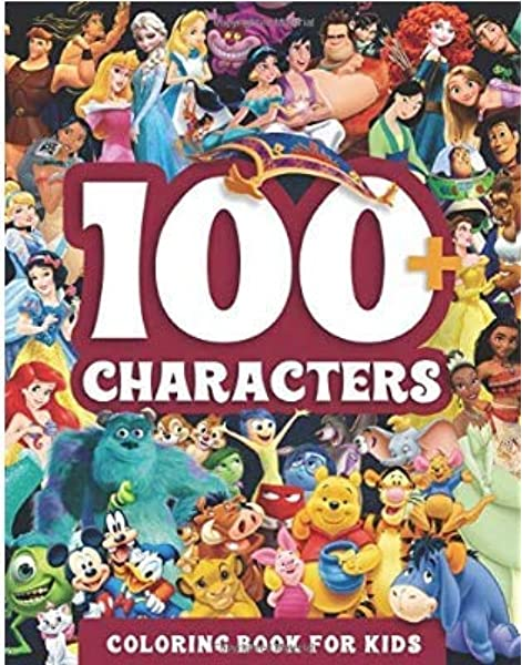 100+characters: Coloring Book For Kids: Amazon.com: Books