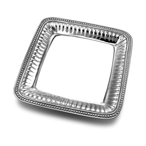 (Wilton Armetale Flutes and Pearls Medium Square Serving Tray, 11.75-Inch)