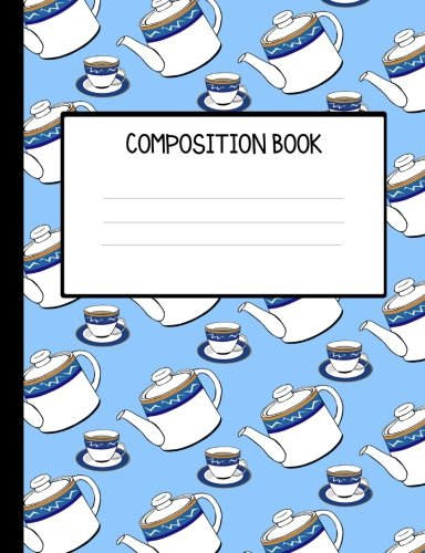Chinese Tea Pots Wide Ruled Composition Book