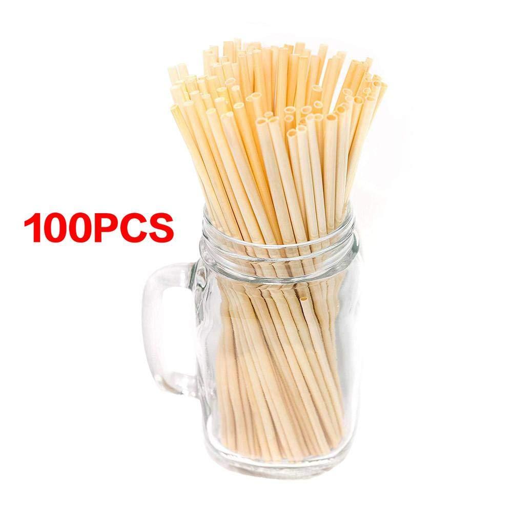 Grade 20CM Naturals Bere Cannucce 100 Pezzi//Pacco compostabile Biodegradabile Eco-Friendly Non tossico monouso Precauti 100PCS // Pack A
