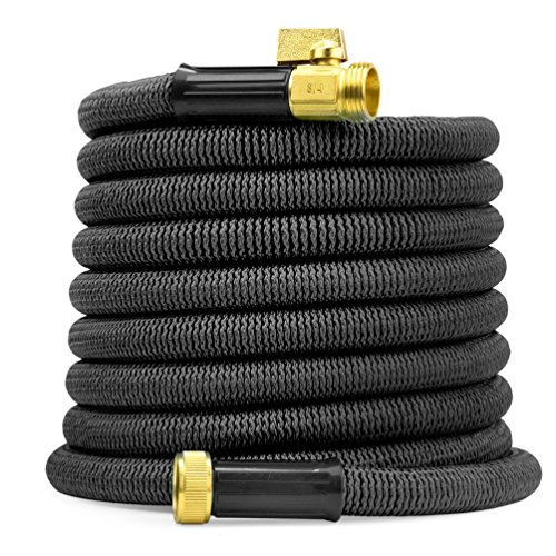 garDspo New World's Strongest Expandable Hose with Made in USA Inner Tube, Heavy Duty Expanding Hose Garden Hose Flexible Hose (75ft, Black) – Upgraded