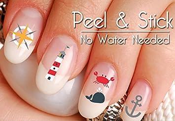 Amazon 60 Nautical Summer Beach Fun Nail Art Decal Sticker