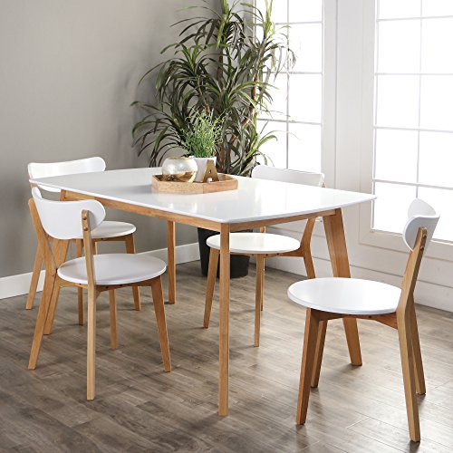New 5 Piece Retro Modern Wood Dining Set-Table and 4 Chairs