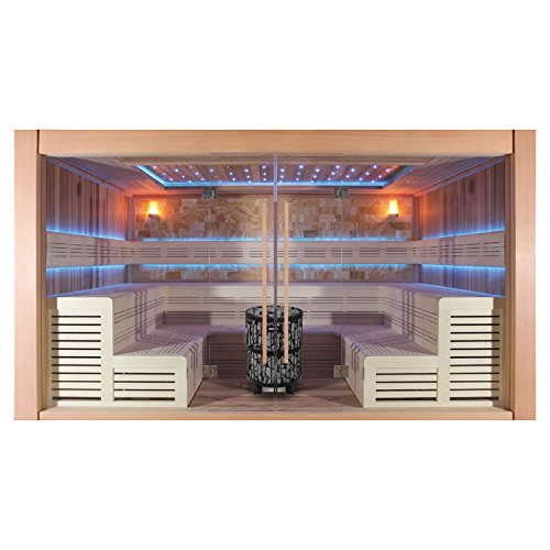 EO-SPA Sauna B1400A rote Zeder/400x300/12kW BiO-Cubo