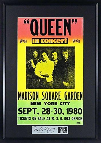 Queen @ Madison Garden Concert Poster (SGA Signature Series Feat. Freddie Mercury) Framed