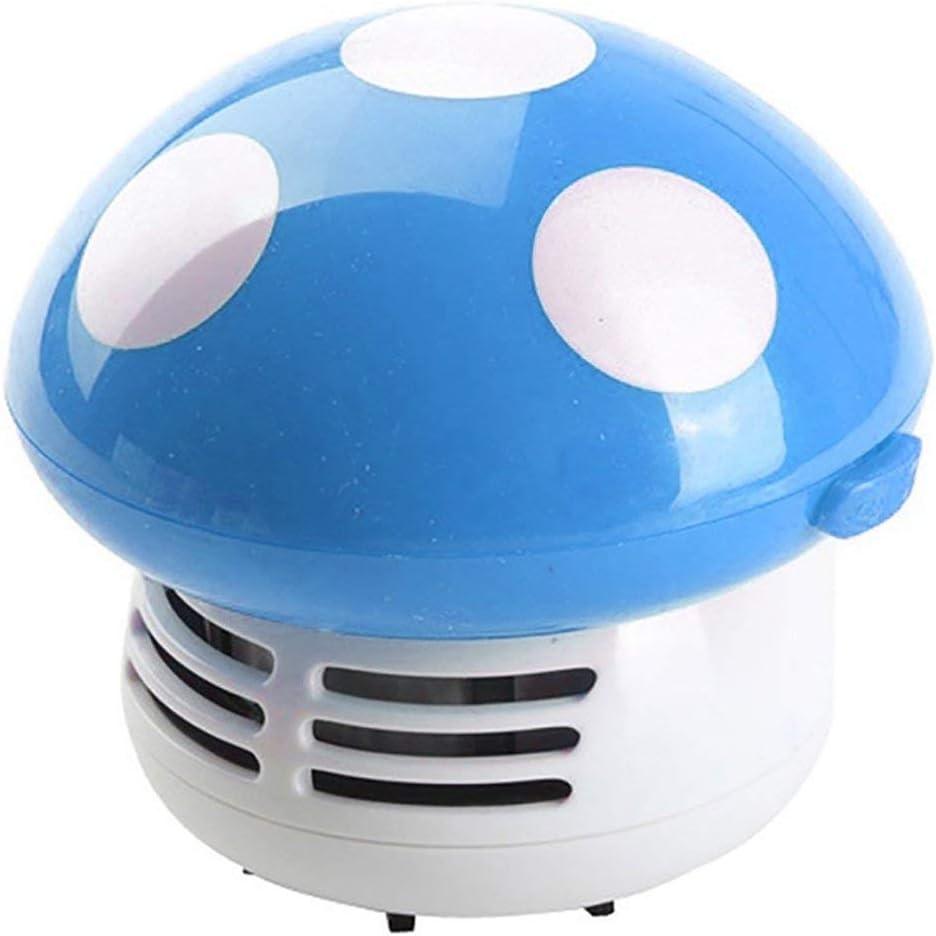 Lindo Mini Seta Esquina Escritorio Polvo Aspiradora Sobremesa Micro Limpiador Mopa - Azul, free size: Amazon.es: Hogar