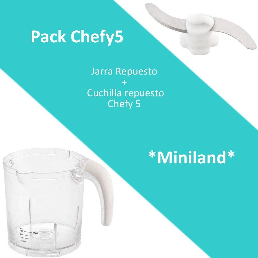 Pack de Repuestos Chefy5: Jarra de Repuesto y Cuchilla de Repuesto para Chefy5 Miniland