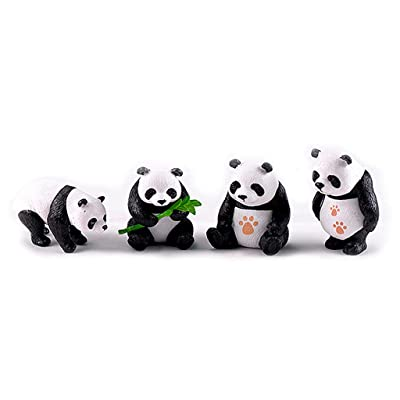 keaiduoa Cute Miniature Resin Pandas Mini Garden Plant Flowers Pot DIY Crafts Bonsai Dollhouse Decoration (M): Industrial & Scientific