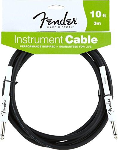Cables para instrumentos de la serie Fender Performance (1/4 recto a recto) para guitarra eléctrica, bajo, mandolina eléctrica, audio profesional