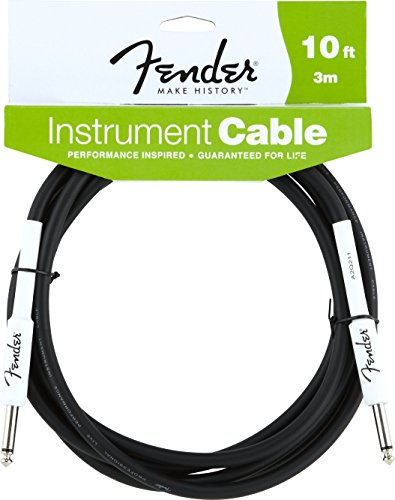 Fender Performance Series Instrument Cables (1/4 Straight-to-Straight) for electric guitar, bass guitar, electric mandolin, pro audio (Cable 10' Guitar)