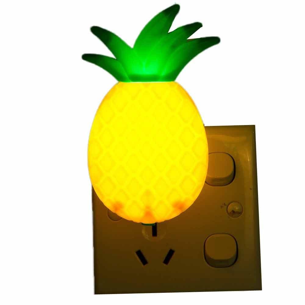 MSOO LED Night Lamp Switch Pineapple Fruit Cartoon Series Night Lamp Light