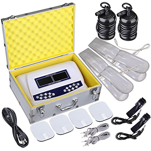 AW Dual User Foot Bath Spa Machine Ionic Detox Cell Cleanse Machine Colored LCD with 2 Stainless Steel Arrays