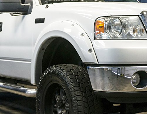 Rdj Trucks Pro Offroad Bolt On Style Fender Flares Ford F150 2004 2008 Set Of 4 Smooth Paintable Oe Black