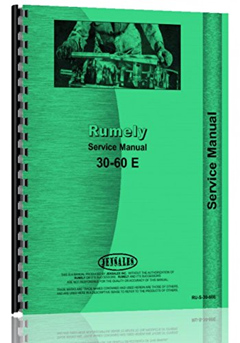 Rumely 30-60-E Oil Pull Tractor Service ()