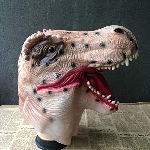 MYGB Mascaras de Halloween Máscara De Dinosaurio De Halloween, Máscara De Terror De Látex, para Fiesta De Disfraces De Halloween, Máscara De Terror De ...