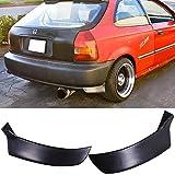 honda civic bumper lip 96 00 - 96-00 Honda Civic 3DR Add-On Poly-Urethane Rear Bumper Lip Spoiler Bodykit 2Pc
