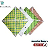 ABbuy Assorted Roti/Chapati Covers - Traditional Roti Rumals - 100% Pure Cotton Cover Combo - Set of 4