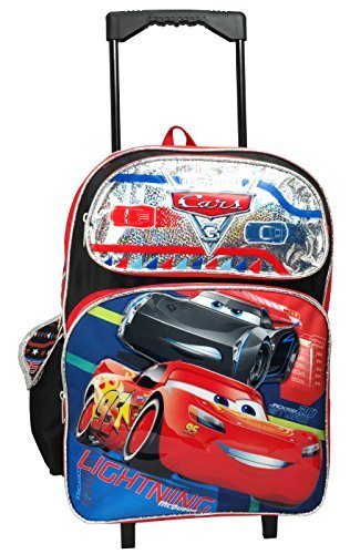 Disney Pixar Cars 16'' Large Rolling Backpack by cars