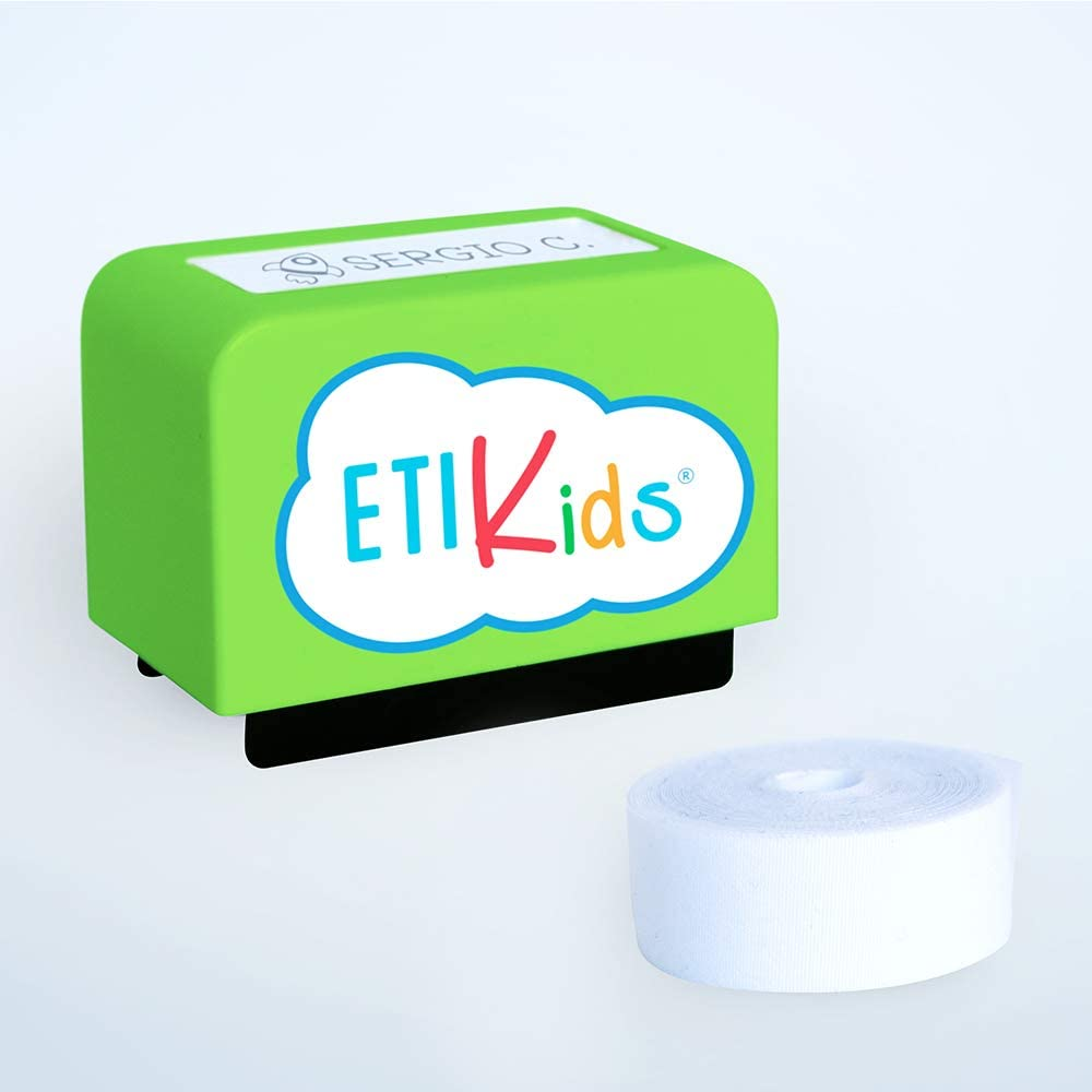 Custom Textile Stamp Designed for Kids Clothes. Personalized Stamp Clothing Marker Also Suitable for Books School. Dermatologic Ink Tested! Mod: Green