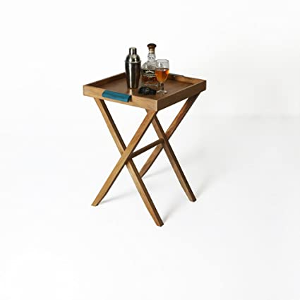 DwellDuo Nest Butler Table - Teak