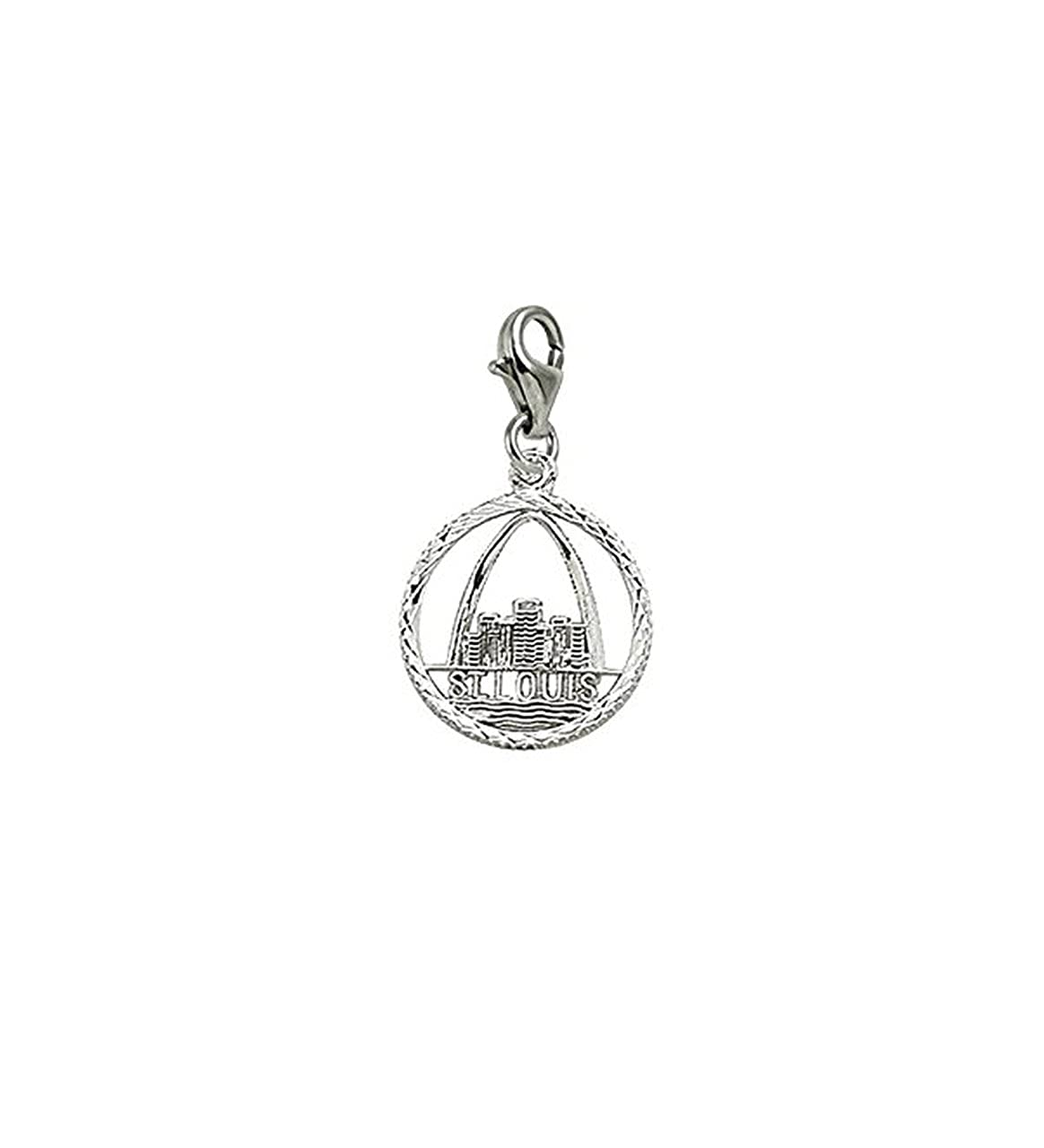 Charms for Bracelets and Necklaces St Louis Charm With Lobster Claw Clasp
