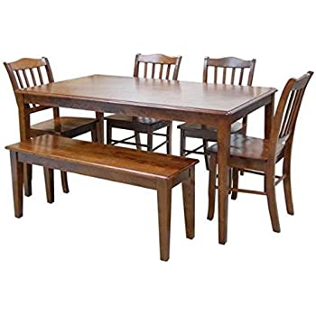Amazon.com: East West Furniture Capri 6 pieza rectangular ...