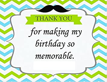 Theme My Party Thank You Card For Based Return Gifts