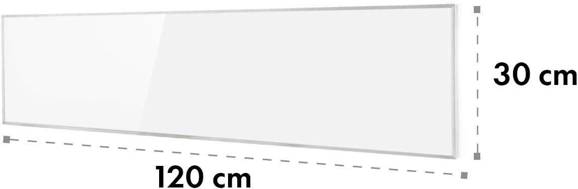 101 x 60 cm 600 W IR ComfortHeat Thermostat ZeroNoise Infrared ideal f/ür Allergiker Klarstein Wonderwall Air 60 Infrarotheizung Carbon Crystal Infrared OpenWindow Detection wei/ß