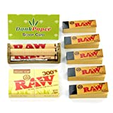 Raw Organic Hemp 300's Natural Unrefined Rolling Papers 1 1/4 Size Mini Bundle