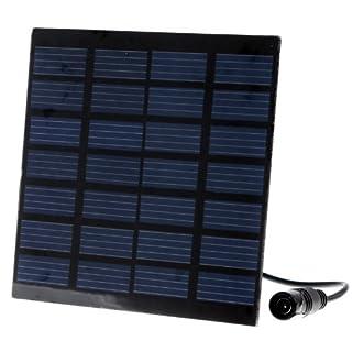 Anself H4009-P - Bomba de agua con panel solar para estanque de jardín
