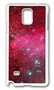 MOKSHOP Adorable Flashing Star 2 Hard Case Protective Shell Cell Phone Cover For Samsung Galaxy Note 4 - PC White