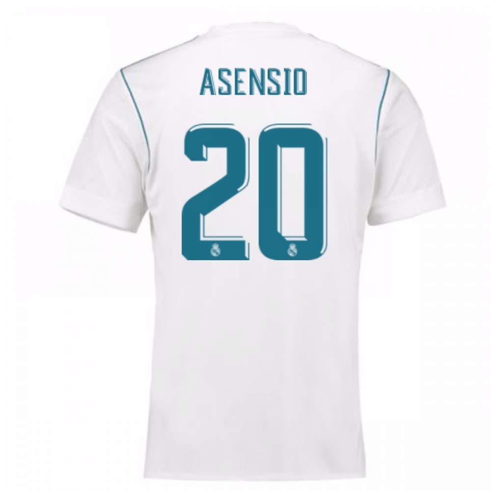 65f073c14 2017-18 Real Madrid Home Football Soccer T-Shirt (Marco Asensio 20)   Amazon.co.uk  Sports   Outdoors