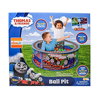Sunny Days Entertainment Thomas & Friends Ball Pit – Indoor Play Tent for Kids | Nickelodeon Thomas The Tank Engine Pop Up Toy | Balls Included, Multi: Toys & Games