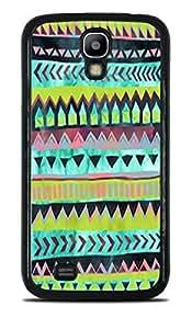 Tribal Design Green Pattern Black Hardshell Case for Samsung Galaxy S4 by ruishername