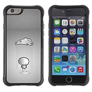 Be-Star único patrón Impacto Shock - Absorción y Anti-Arañazos Funda Carcasa Case Bumper Para Apple iPhone 6 Plus(5.5 inches)( In Love And Lonely Emo )