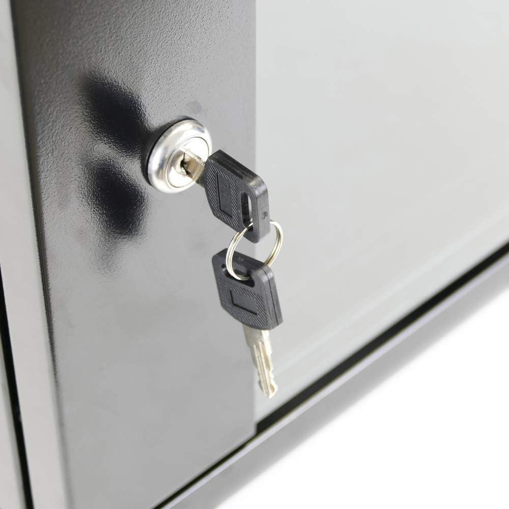 Serverschrank 19 Rack 9HE 570x450x520mm wandverteiler SOHORack unmontiert DIY Rackmatic RackMatic
