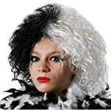 I Love Fancy Dress ILFD2017 Ladies Half Black and White Scruffy Look Wig (One Size)