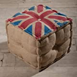 Union Jack Cotton Cube Ottoman