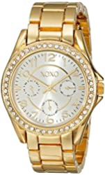 XOXO Women's XO178 Rhinestone-Accented Gold-Tone Watch