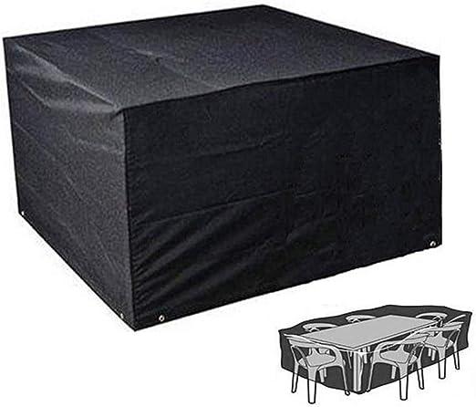 Cubiertas para Muebles De Jardín Cubiertas De Mesa De Jardín De Tela Oxford 420D para Exteriores Conjuntos De Muebles Impermeables, Transpirables Y Resistentes Al Agua UV (325 * 208 * 58cm): Amazon.es: Hogar