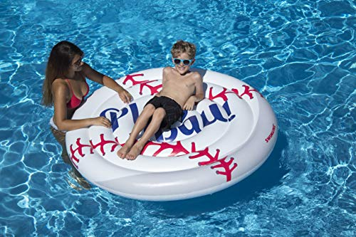 Swimline Inflatable Baseball Ride-On Pool Float