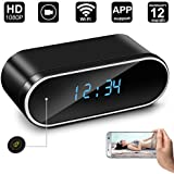 Hidden Camera Clock,Digihero Spy Camera in Clock WiFi alarm Cameras ,1080P Video Loop Recorder Clock Spy Wifi Camera for Home And Office Security Monitoring Nanny Cam 150 Angle Motion Detection