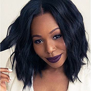 Amazon.com : Short Afro Curly Hair Wigs For Black Women Synthetic ...
