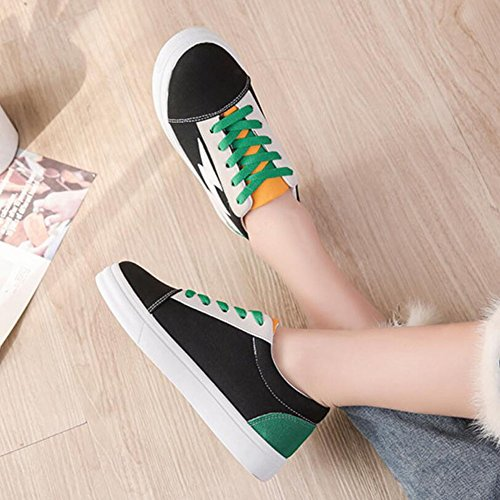 Comfortable Shoes Black GAOLIXIA Wear Shoes Green Shoes Sports Outdoor Shoes Resistant Breathable Slip Women's and Non Canvas Shoes Fashion qaawIH